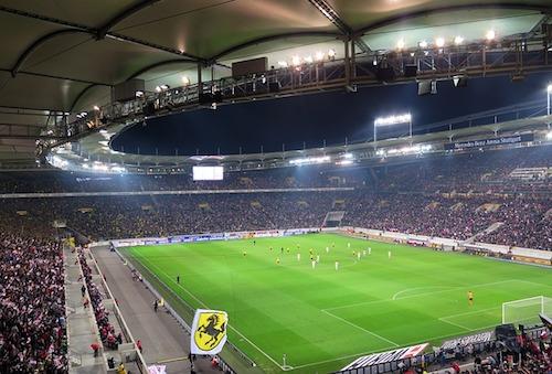 Blick ins Fussball Stadion der Mercedes Benz Arena