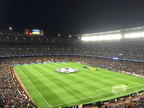 Champions League - Blick ins Stadion vom FC Barcelona