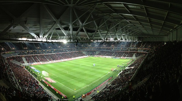 Fussball Winterpause: Einblick in ein Fussballstadion