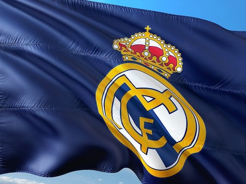 Flagge vom Champions League Teilnehmer Real Madrid