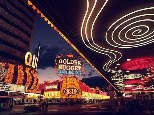 Blick auf das Golden Nugget Casino in Las Vegas