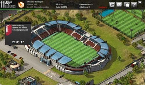 Das Stadion im Fussballmanager 11 Legends