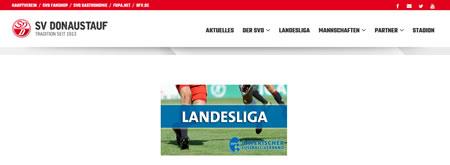 Screenshot der Webseite vom SV Donaustauf, aufgenommen am 04.12.2016